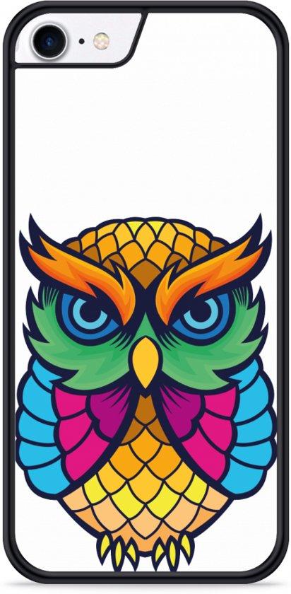 iPhone 7 Hardcase hoesje Colorful Owl Artwork