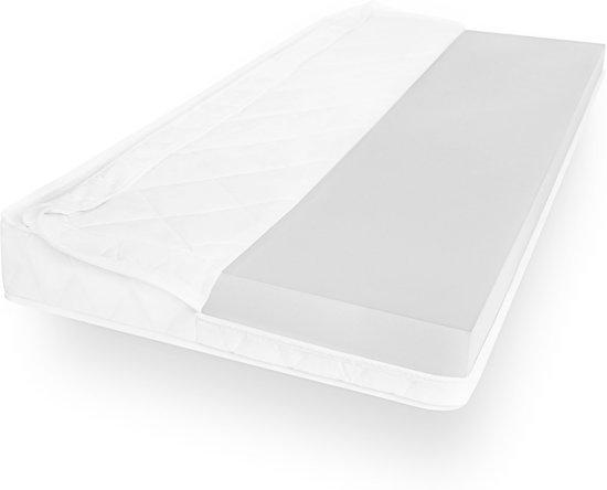 Matras - 70x200  - comfortschuim - microvezel tijk - wit neu