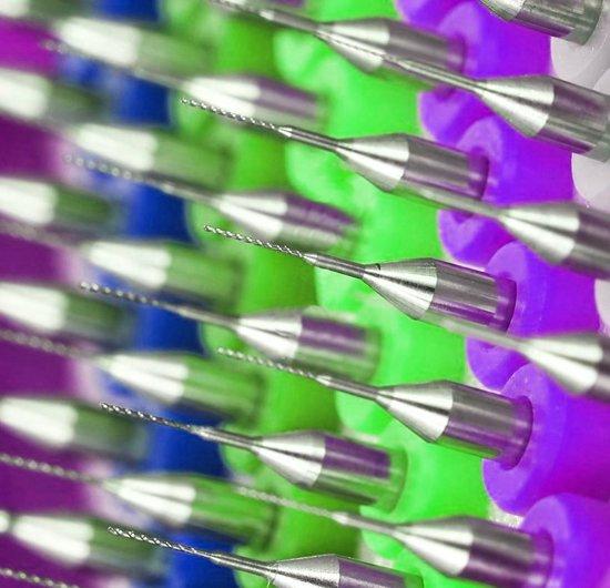Micro boortjes set in doosje (0.9 mm, 10 stuks)