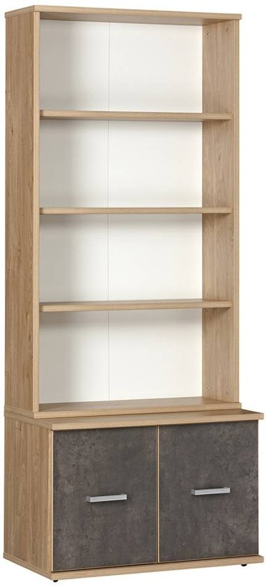 boekenkast incl onderkast deuren hout dongen hout