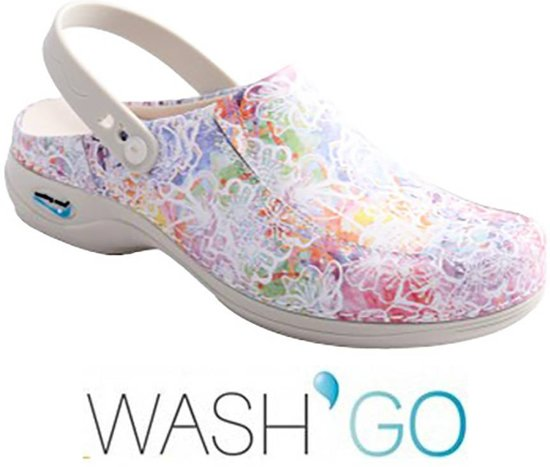 Wash & Go Wash & Go Wash & Go Clog Open Fuchsia Klompen Uniseks