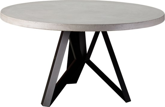 Ronde Eettafel 130 Cm Zwart.Bol Com Table Du Sud Beton Ronde Tafel Cortina 130 Cm