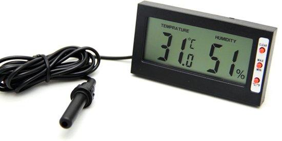 RepTech Digitaal thermo- hygrometer met geheugen