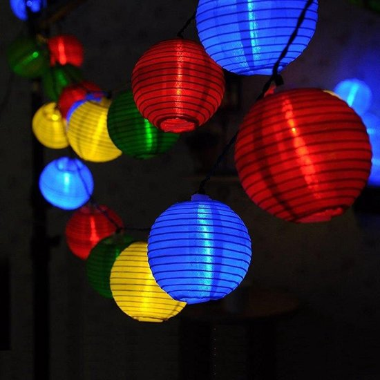 20 solar lichtketting lampions - feestverlichting