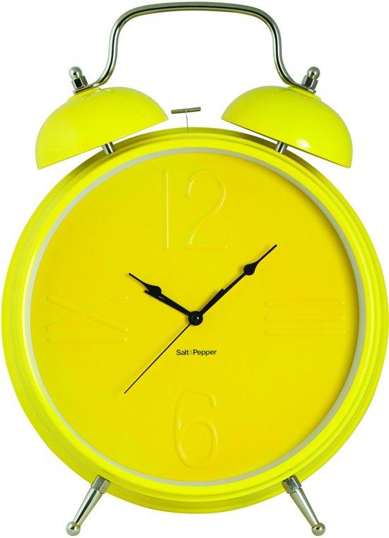 S&P ZONE klok 36 cm wekkerfunctie (geel)
