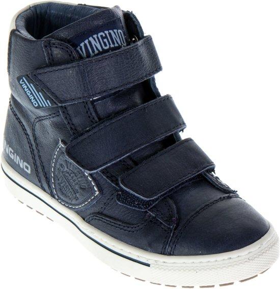 356ff91a006 bol.com | Vingino Dave Velcro Sneakers - Maat 33 - Jongens - blauw/wit