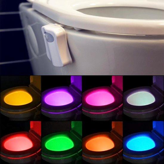 bol.com | LED Toiletpot Automatische Verlichting - 8 KLEUREN