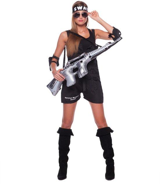 e4d885aef8398f SWAT Kostuum Vrouw 3delig- Verkleedkleding- Maat S M