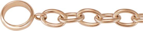 Quiges Jasseron Ketting zonder Sluiting Clipring voor Hangers - RVS - Dames - 70cm - EPK072