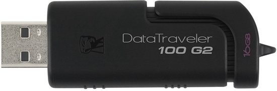 Kingston DataTraveler 100 G2 16GB - Zwart