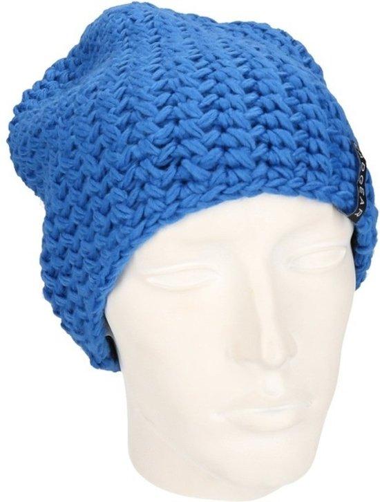 Basic beanie muts kobalt blauw voor dames