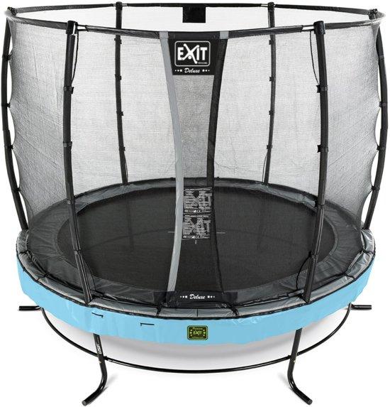 EXIT Elegant Premium trampoline ø305cm met veiligheidsnet Deluxe - blauw