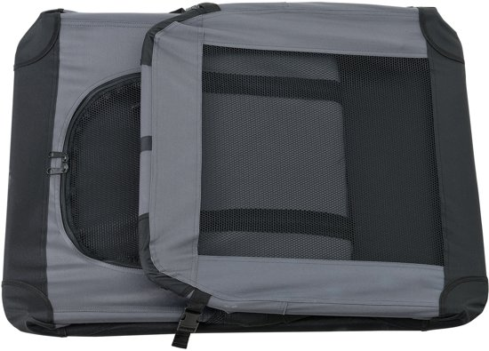 [pro.tec]® Dieren transportbox - reismand - grijs - XL
