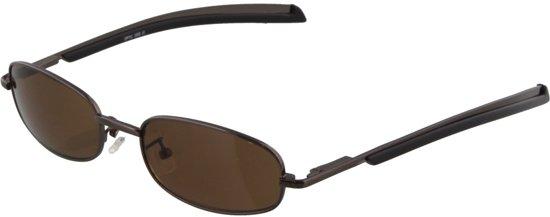 bol.com   Bruine zonnebril met kleine ovale glazen. ee180ea8a228