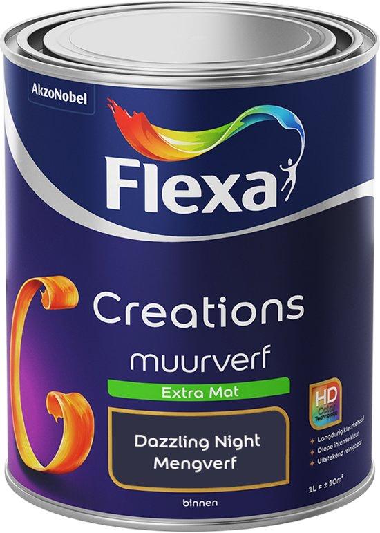 Flexa Creations Muurverf - Extra Mat - Dazzling Night - 1 liter (Mengkleur)