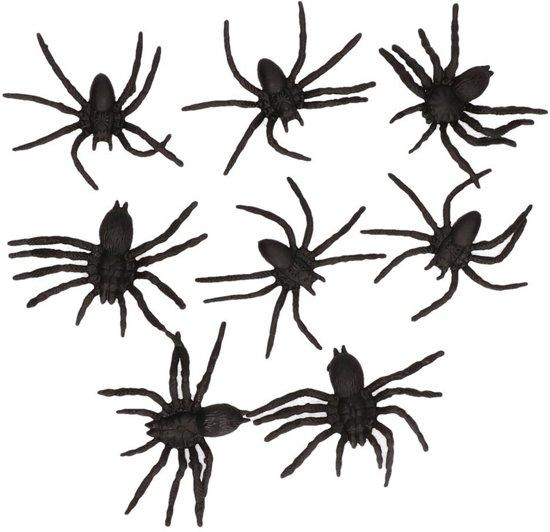 Halloween Zwarte namaak spinnen 8 stuks