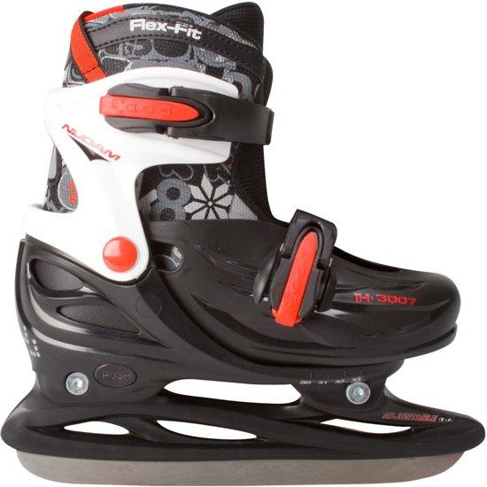 abf3beec3ba Nijdam 3007 Junior IJshockeyschaats - Verstelbaar - Hardboot - Zwart - Maat  34-37