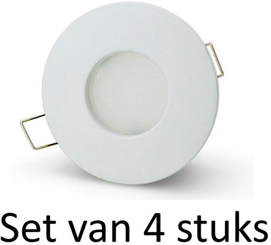 bol.com | Dimbare Philips badkamer inbouwspot | Wit Rond | Set van 4 ...