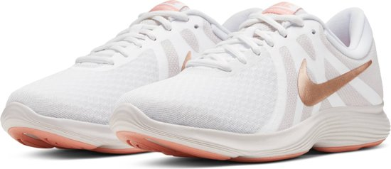 Nike Revolution 4 Eu Dames Sportschoenen - White/Mtlc Red Bronze-Vast Grey-Pink Quartz - Maat 42