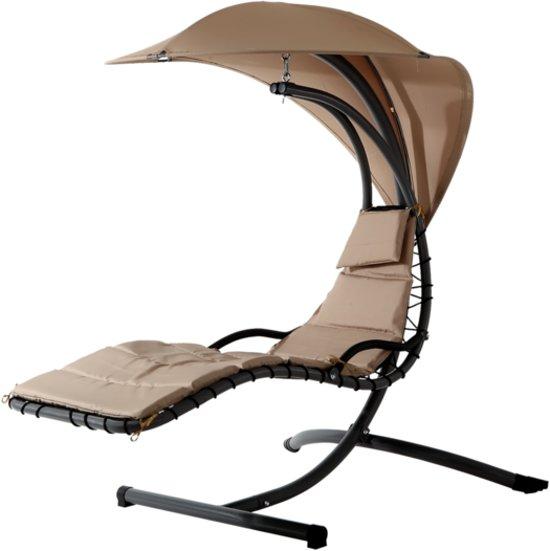 Zweefstoel Voor Buiten.Bol Com Hangstoel Fiji Taupe