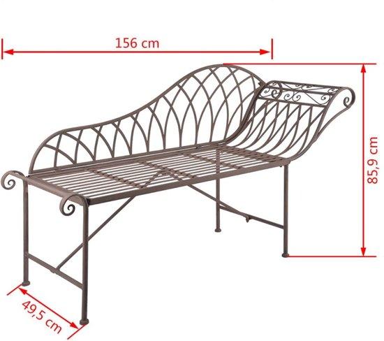 Esschert Design Chaise longue oud-Engelse stijl metaal MF016
