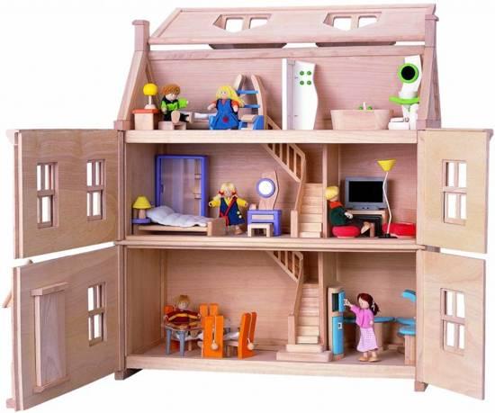 Plan Toys houten poppenhuis Victorian dollhouse