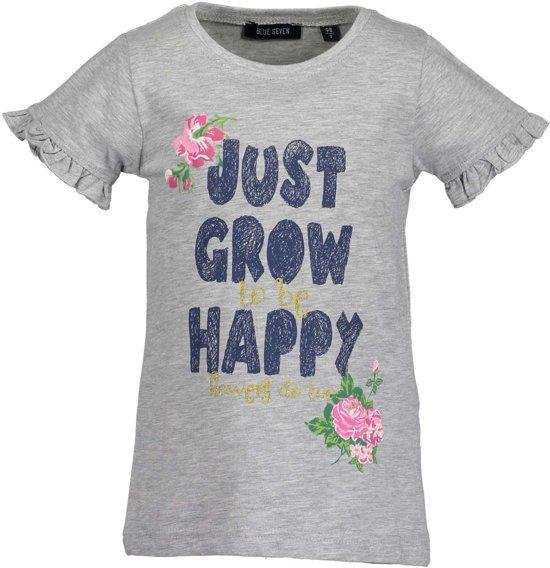 Blue Seven Meisjes Shirt Grijs met bloemprint - Maat 98