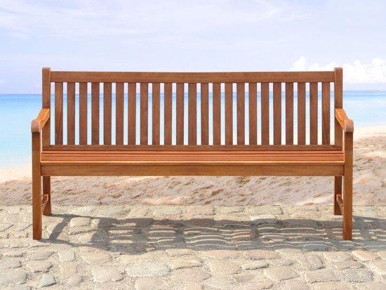 Beliani Toscana Tuinbank Donker houtkleur Hout