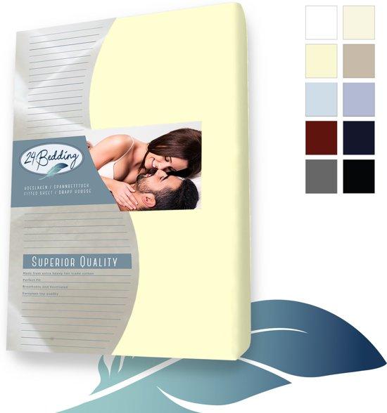 24-Bedding Jersey Hoeslaken 140x210 cm Vanille