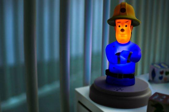 Alecto Brandweerman Sam Nachtlampje | Je favoriete Held als nachtlampje | Blauw / Rood