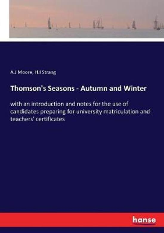 Thomson's Seasons - Autumn and Winter