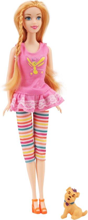 Kampeertent geschikt voor Barbie - Met accessoires - Met hondjes en mooie barbiepop
