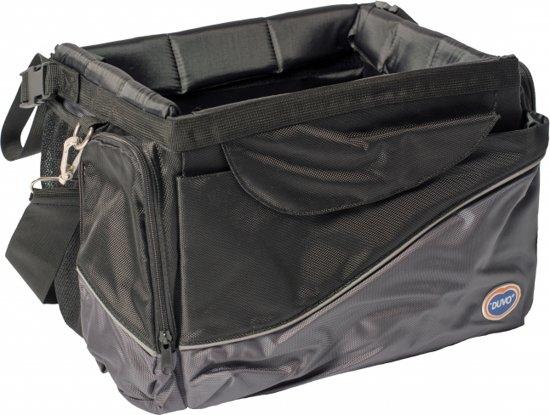Duvo+ Fietstas voor honden Zwart/grijs 41x26x26cm