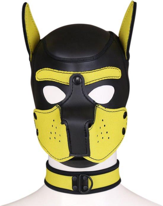 Banoch - Lindo Perrito Amorillo Neoprene - honden masker puppy geel neopreen