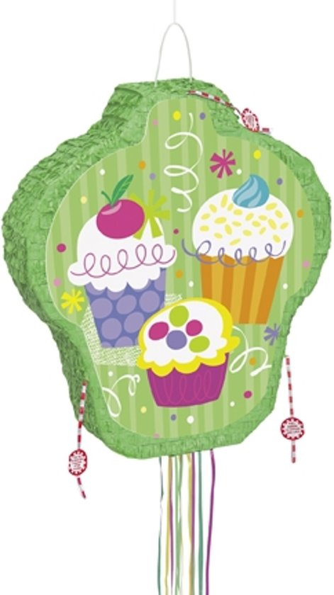 """Cupcake pinata - Feestdecoratievoorwerp - One size"""