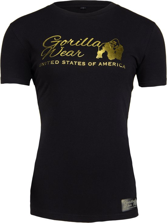 21c9badf350 Gorilla Wear Luka T-shirt - Zwart/goud - L