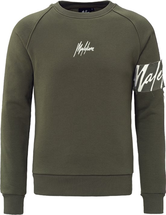 Malelions Crewneck Captain - Army/Off-white
