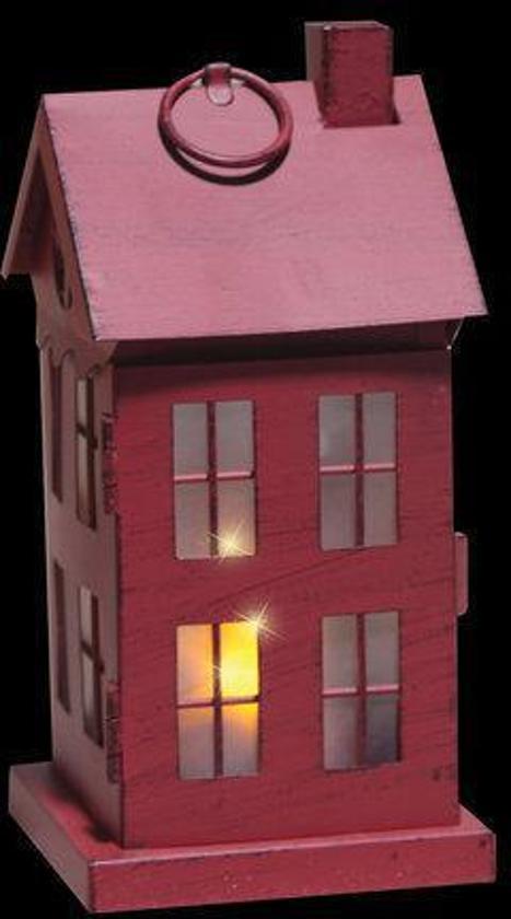 bol.com   Luca Lighting - Metalen huisje met LED verlichting - Rood