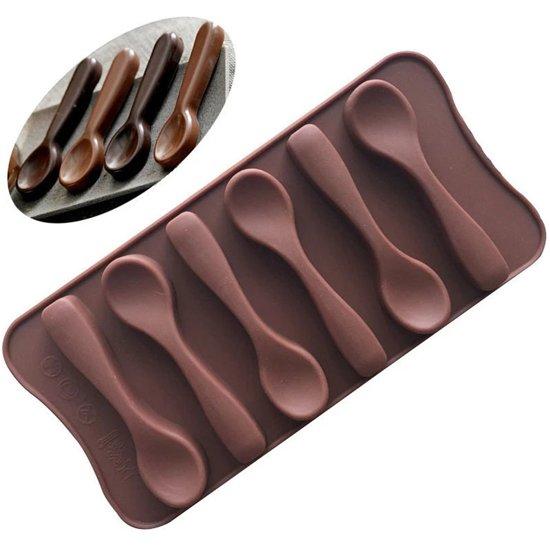 ProductGoods - Siliconen Chocoladevorm Lepel - Lepeltjes Fondant Bonbonvorm