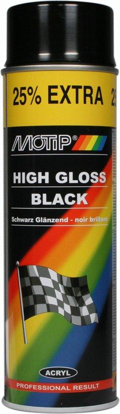 Motip Lak - Zwart Glans - 500 ml