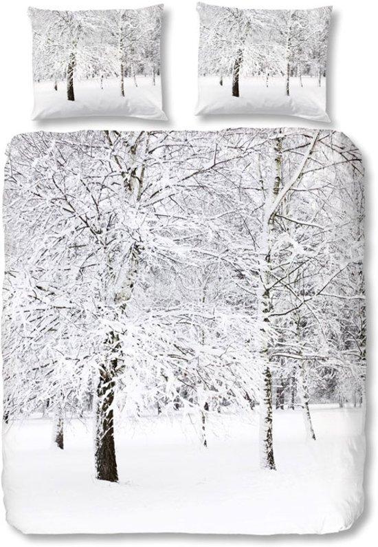 Good Morning Flanel dekbedovertrek Winter bos 240 x 200/220
