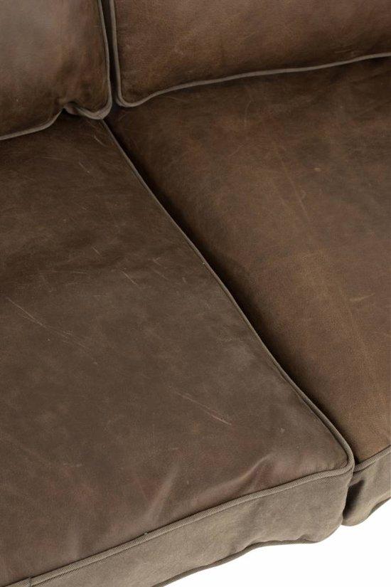Duverger Army - Sofa - 2-zit - kunstleder kussens - kaki groen -