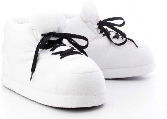 Sneaker pantoffels/sloffen voor kinderen wit maat 34/36