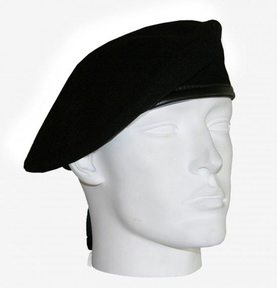 Soldaten baret zwart 59 cm