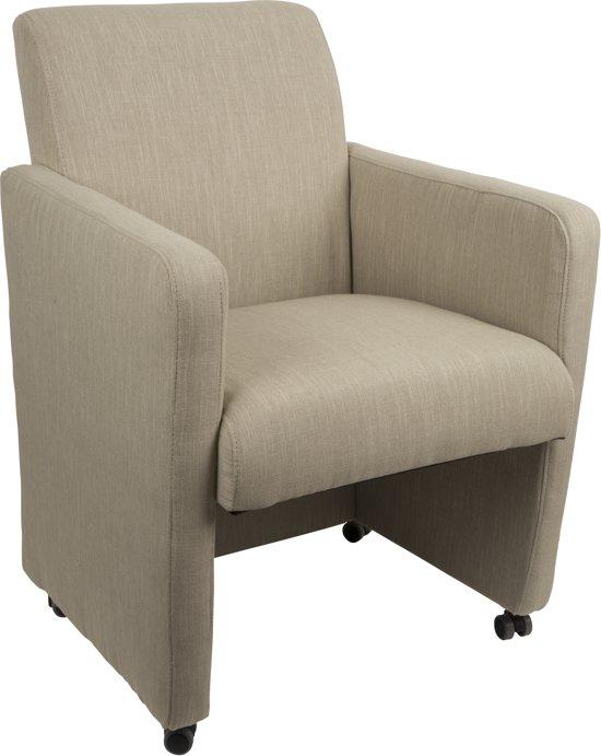 Feliz luxury linnen stoel beige - Linnen stoel ...