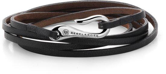 Rebel&Rose Armband - Leer - 21 cm