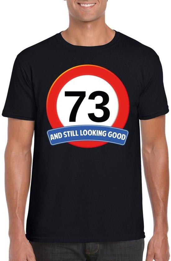 73 jaar and still looking good t-shirt zwart - heren - verjaardag shirts 2XL