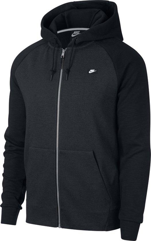 07220ca170a bol.com | Nike NSW Optic Hoodie Sportvest Heren - Zwart/Grijs-Wit