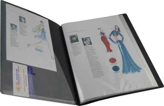 EXXO-HFP #14667 - Presentatie A4 Show Album 60 Tassen - Zwart - 2 Stuks