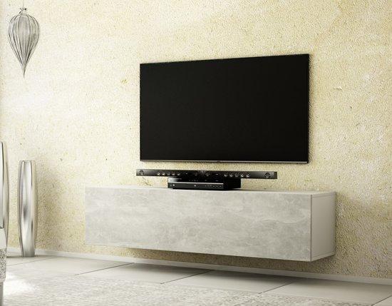 Az Home Tv Meubel Tv Kast Howard 160 Cm Wit Betonlook Grijs